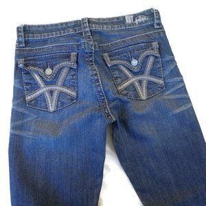 Kut From The Cloth Jeans Straight Mid Rise Med Blu